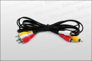 Chinch Kabel 3-fach mit Stecker 1m lang