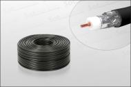 Hochwertiges Koaxialkabel 100m Black HD-tauglich