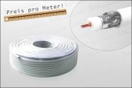 z.B. Koaxialkabel 1m Doppelgeschirmt 90/120 dB HD-tauglich Digiline (Sat-Kabel)