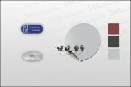 Sat Anlage 85/100 cm + 4 Single LNB Stahl/Alu (ohne Receiver)