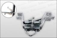 z.B. Wandabstandhalter 100/180/280/380mm Stahl (Montagezubehör)