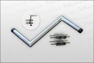 Z-Ausleger mit Mastdoppelschelle 50 cm